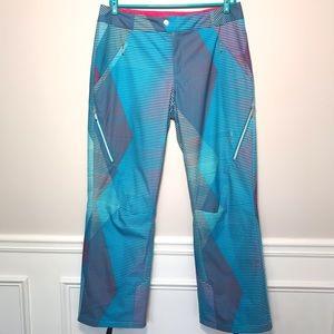 Spyder Striped Windproof Ski Or Snow Pants Size 14